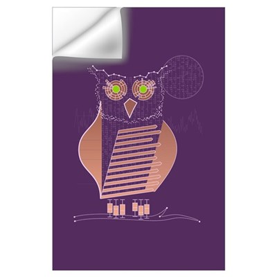 Data Owl Wall Decal