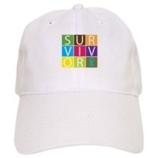Ovarian Cancer Survivor Tile Baseball Cap