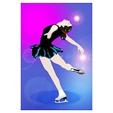 Figure Skating Layback Skater Poster