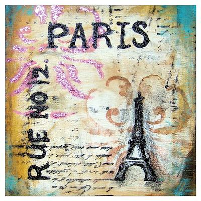 Shabby Chic Paris Poster