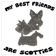 MY BEST FRIENDS ARE SCOTTIES Framed Print
