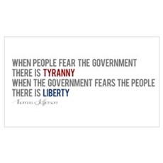 """Tyranny vs. Liberty"" Poster"