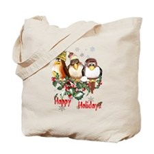 Happy Holidays Chirstmas Bird Tote Bag