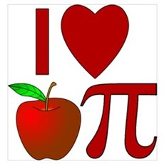 I Heart Apple Pi Poster