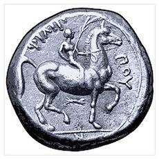 Horse Coin, Horse Rider. Poster