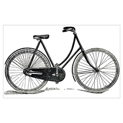 Old Bike (F) Canvas Art