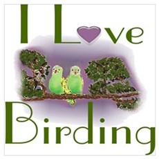 I Love Birding Framed Print