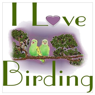 I Love Birding Poster