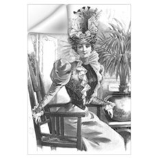 Belle Epoque Beauty Wall Decal