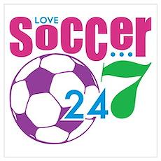 24/7 Soccer Poster