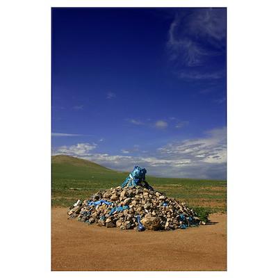 Mongolian Ovoo Poster