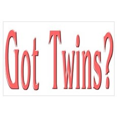 """""""Baby Got Twins Red"""" Poster"""