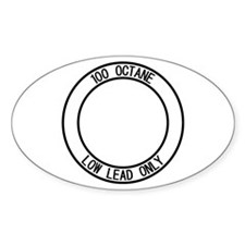100LL Only Oval Decal