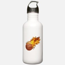 Flaming BasketBall Water Bottle