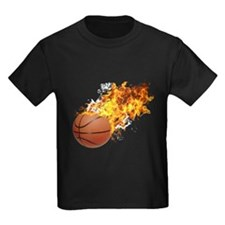 Flaming BasketBall T