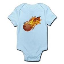 Flaming BasketBall Infant Bodysuit