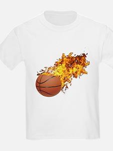Flaming BasketBall T-Shirt
