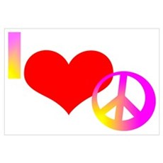 I Heart Peace Canvas Art