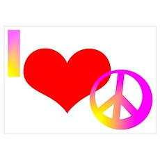 I Heart Peace Poster