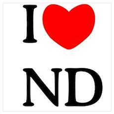 """I Love North Dakota"" Poster"