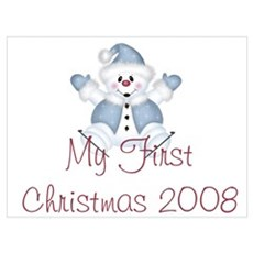 Snowman My 1st Christmas 2008 Poster