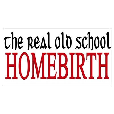 old school home birth Poster