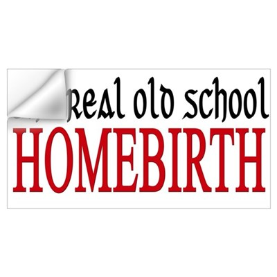 old school home birth Wall Decal