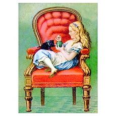 ALICE & HER CAT, DINAH Poster