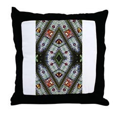 Stained Glass Abstract 2 Throw Pillow
