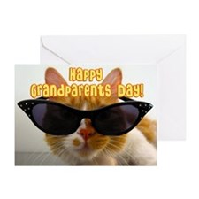 Happy Grandparents Day Cool Cat Greeting Card