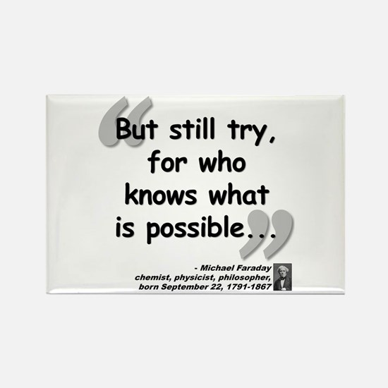 Faraday Try Quote Rectangle Magnet