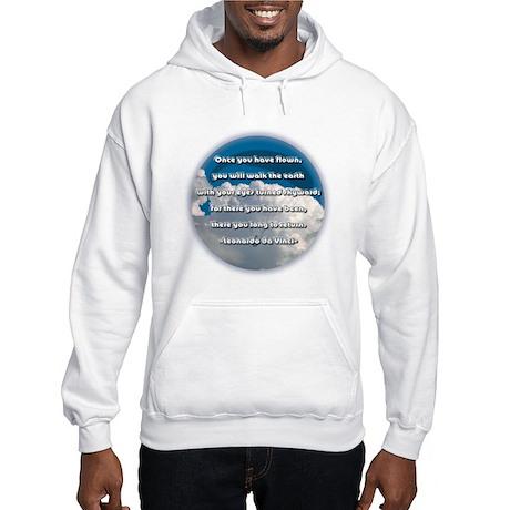"""Leonardo Da Vinci Quote"" Hooded Sweatshirt"