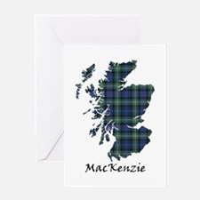 Map-MacKenzie Greeting Card