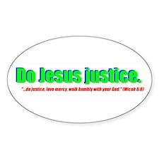 Jesus Justice Oval Decal
