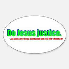 Jesus Justice Oval Decal