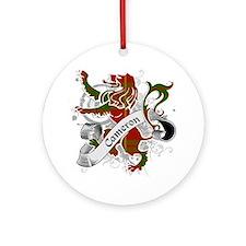 Cameron Tartan Lion Ornament (Round)