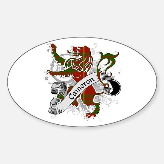 Cameron Tartan Lion Sticker (Oval)