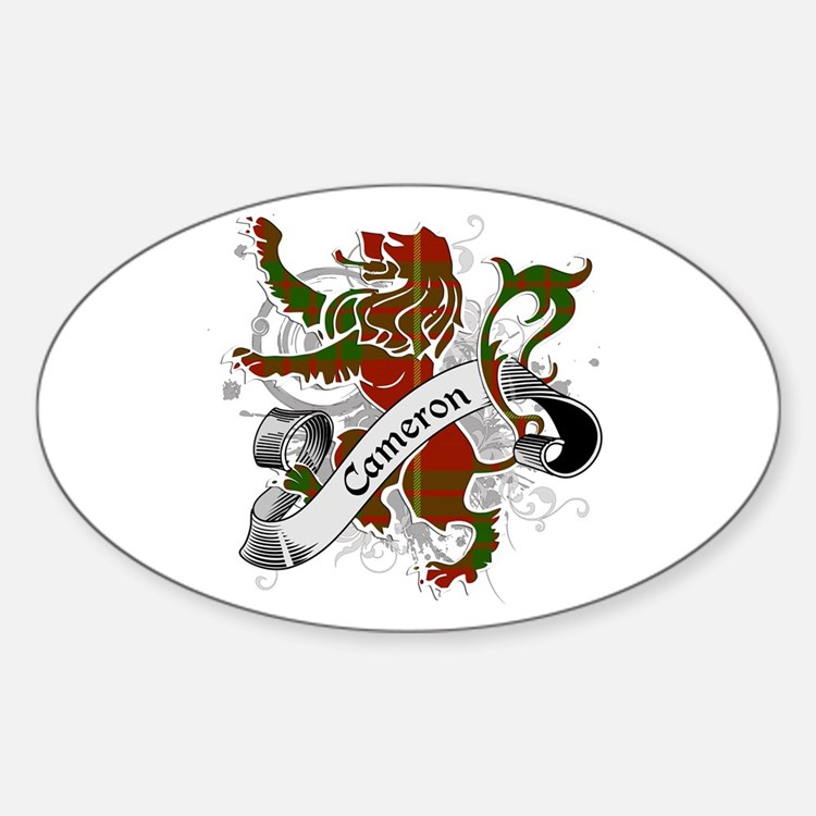 Cameron Tartan Lion Sticker (Oval)