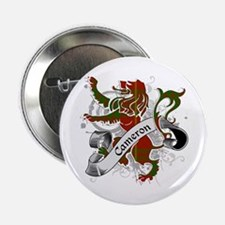 "Cameron Tartan Lion 2.25"" Button"
