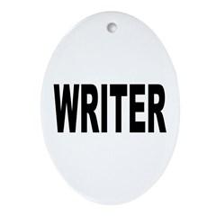 Writer Ornament (Oval)