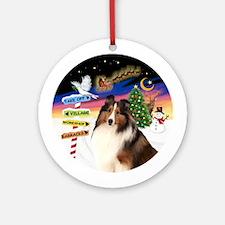 Xsigns-Shetland Sheepdog (sw) Ornament (round)
