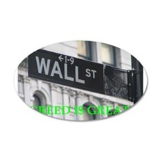 wall $treet 22x14 Oval Wall Peel