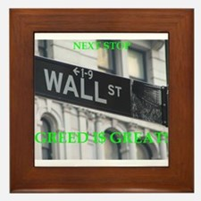 wall $treet Framed Tile