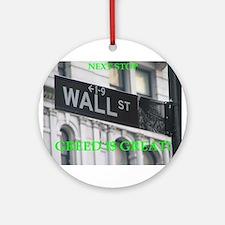wall $treet Ornament (Round)