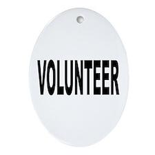 Volunteer Ornament (Oval)
