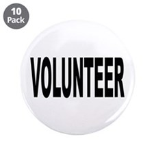 "Volunteer 3.5"" Button (10 pack)"