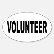 Volunteer Sticker (Oval)