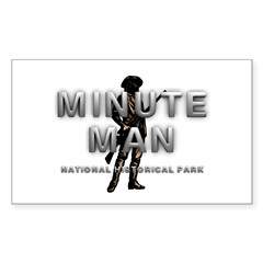 ABH Minute Man Sticker (Rectangle 50 pk)