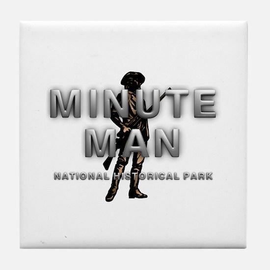 ABH Minute Man Tile Coaster