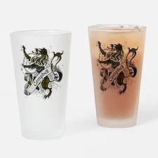 Campbell Tartan Lion Drinking Glass